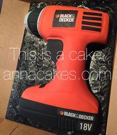 Black and Decker drill cake annacakes.com