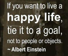 Happy Life – Einstein quote
