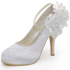 Tacones altos de plata de las mujeres del dedo del pie acentuado Slingbacks bombas de la correa del tobillo Glitter Party Shoes hcIBoEPy