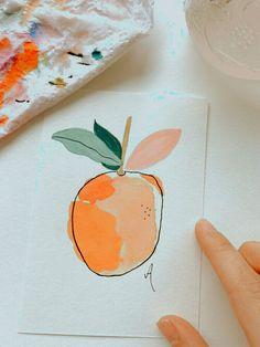 Illustration Design Graphique, Illustration Art, Illustrations, Painting Inspiration, Art Inspo, Easy Watercolor, Simple Watercolor Paintings, Abstract Watercolor, Simple Paintings