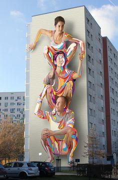 """Mural totem"" by JBAK ( J.Bullough & K. Addison) #streetart #Berlin ,Germany"