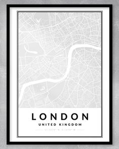 This contemporary and minimalistic map print (A3) is perfect for the home or office, or even as a gift! As this is an instant download, you will be purchasing exactly what you see. We can also create custom maps of any place in the world. Just send us a message!  DIGITAL DOWNLOAD ONLY (NO PRINT OR FRAME INCLUDED) - WE WILL MESSAGE YOU WITH YOUR DOWNLOADABLE FILE WHEN IT IS READY. London Poster, London Map, London City, Personalized Engagement Gifts, One Year Anniversary Gifts, Map Shop, London United Kingdom, Gsm Paper, Custom Map