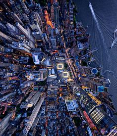 New York City's National September 11 Memorial & Museum seen from above.