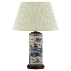 Mr Fredrik Lampfot Willow Blå Vit #blue #white #willow #lamp