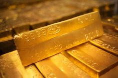 Gold is declining in value.  24 karat gold bars are seen at the United States West Point Mint facility in West Point, New York June 5, 2013.