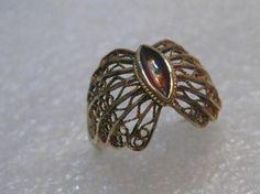 Vintage 12kt Solid Rose Gold Filigree Ring by stampshopgirl