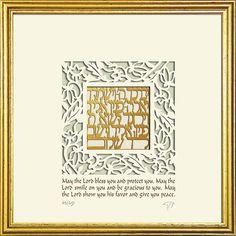 Wall Art Priestly Blessing Framed Papercut by Enya Keshet