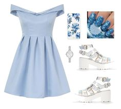 Blue by fanastasias on Polyvore featuring polyvore, fashion, style, Chi Chi, Kate Spade, Sonix and clothing