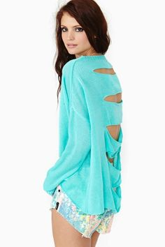 Fragment Knit - Mint in What's New Clothes Tops at Nasty Gal