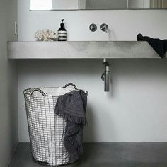 A classic - the Korbo basket has been in continues production since the - by Lovely photo by Scandinavian Interior Design, Modern Interior Design, Closet Desk, Farmhouse Architecture, Industrial Wallpaper, Bathroom Taps, Bathrooms, Basin Design, Bathroom Design Luxury