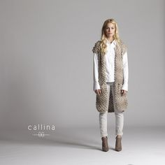 Cara Vest- Prepare to be noticed!  When you are wearing this hand knit one of a kind vest.