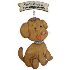 Placa em MDF cão marrom - PROMOÇÃO |