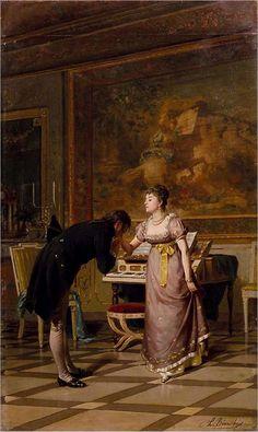 Il Baciamano by Luigi Bianchi (Italian 1827-1914)