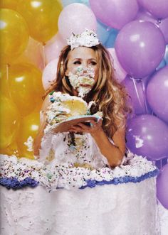 if only i could do this.  Amy Sedaris.  there's no such thing as too much champagne or cake!