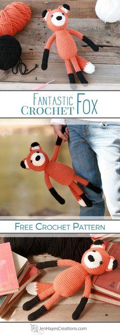 Fantastic Crochet Fox | A Free Pattern by Jen Hayes Creations