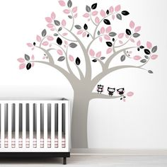 decal wall vinyl decal wall tree wall decal wall decals Nursery wall decals vinyl wall decals Children wall decals nature---tree lover. $65.00, via Etsy.