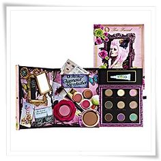 Too Faced Glamour Revolutions $39.50 (Holiday Collection 2009) The set includes •Milk Chocolate Single Eyeshadow • George & Weezie Single Eyeshadow • Boy Toy Single Eyeshadow • Label Whore Single Eyeshadow • London Calling Single Eyeshadow • Glamazon Single Eyeshadow • Dirt Bag Single Eyeshadow • Party Girl Single Eyeshadow • Neptune Single Eyeshadow • 3 Lip Glosses • Chocolate Soleil Bronzer • Brightening Blush in La Vie En Rose • Too Faced Shadow Insurance