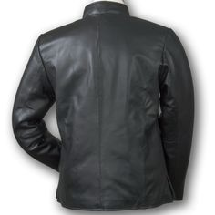 Women&39s Burk&39s Bay Lambskin Leather Car Coat Black BLACK SM