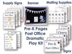 Post Office Dramatic Play Center Printables