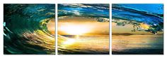 Ripcurl. 3 Panel Giclee Framed and Ready to Hang. Modern Art Wall Decor by USADECOR on Etsy https://www.etsy.com/listing/179193131/ripcurl-3-panel-giclee-framed-and-ready