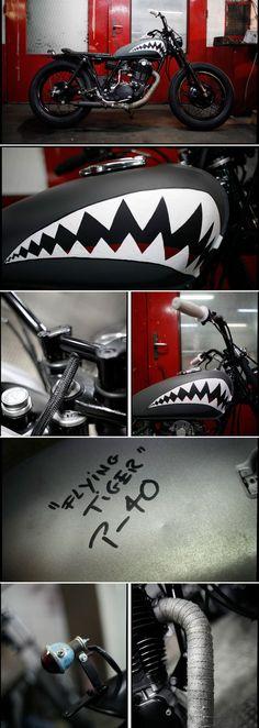 "500 SR ""Flying Tiger"" by Blitz Motorcycles - http://blitz-motorcycles.com/"