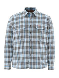 simms coldweather shirt tidal blue plaid