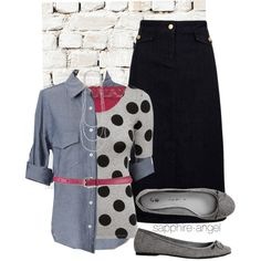 A fashion look from November 2013 featuring H&M tops, Viyella skirts e Gap flats. Browse and shop related looks.