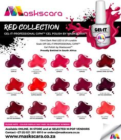 Colour Chart, Gel Polish Colors, Red Led, Dark Red, My Nails, How To Apply, Collections, Colours, Bottle
