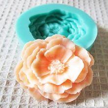 Molde de Silicone 3D Rose Flor Fondant de Decoração Do Bolo de Sabão de Chocolate Moldes Artesanato Frete Grátis(China (Mainland))