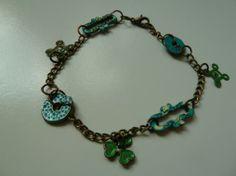 Patinovaný náramok by Martinuska - SAShE. Handmade Bracelets, Turquoise Bracelet, Jewelry, Jewlery, Jewerly, Schmuck, Jewels, Jewelery, Fine Jewelry