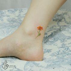 Нежные цветочные татуировки, будто нарисованные акварелью