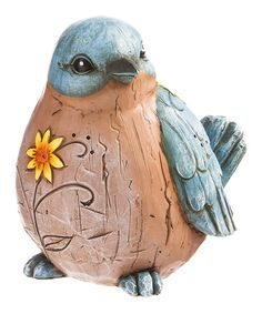 Teal Wishgiver Bird Figurine | zulily