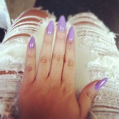 im obsessed with almond/stiletto nails but I don't think I could ever pull it off.