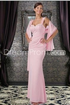 Sheath/Column Floor Length Chiffon  Mother Of The Bride Dresses Under 200
