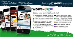 WOW! mySite HTML5 & CSS3 mobile theme   http://themeforest.net/item/wow-mysite-html5-css3-mobile-theme/2527821?ref=damiamio       WOW! mySite is an HTML5 & CSS3 website theme optimised for mobile devices. With WOW! mySite you design your own mobile website with nine versatile colour schemes, photo galleries, video galleries, news, portfolio and contact pages and much, much more! Add your own high resolution logo and custom Google Web Fonts whilst maintaining the style and branding of your…