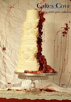 Gross Cakes For A Zombie Wedding