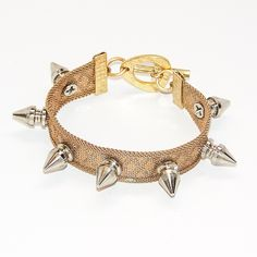 yes yes yes!!   Mesh Bracelet With Nickel Spikes
