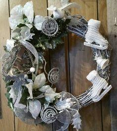 Silver bell grapevine wreath