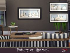 evi's Pottery on the wall Electronic Art, Sims 4, Wall Decor, Pottery, Modern, House, Furniture, Home Decor, Paintings