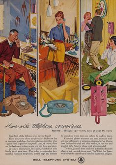 "Bell Telephone ad: ""Home-Wide Telephone Convenience"""