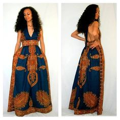 African Print Maxi Dress by MelangeMode on Etsy, $175.00