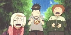 Oh goodness, they are so cute! Ino, Shikamaru, and Choji. Naruto Gif, Naruto Fan Art, Naruto Cute, Kid Naruto, Boruto, Shikatema, Sasuke Sakura Sarada, Naruto Shippuden Sasuke, Shikamaru And Temari