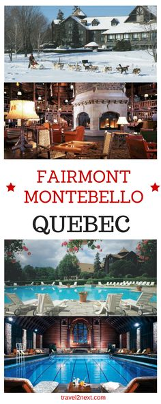 "Fairmont Montebello – luxury in Quebec. Okay, let's talk ""full disclosure"": I'm a ""Fairmont girl"" because I love staying at Canada's historic, luxurious Fairmont properties."