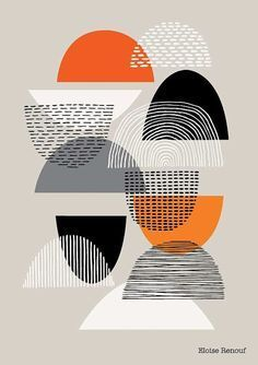 Abstract Art Design - Simple Shapes open edition giclee print by Eloise Renouf - Mid Century Mod Geometric Pattern Design, Surface Pattern Design, Geometric Art, Simple Geometric Designs, Abstract Shapes, Abstract Print, Textures Patterns, Print Patterns, Design Patterns