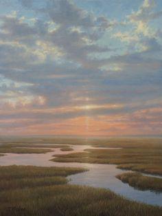 Tom Nielsen Fine Art :: Seascape & Marine Paintings :: Sunrise Marsh