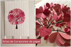 Cómo hacer un árbol de corazones de papel | Mira como hacer este lindo cuadro con materiales muy sencillos ;)