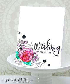 SSS Sending and Wishing; Wishing die; SSS Sketch Ranunculus; watercolor black…