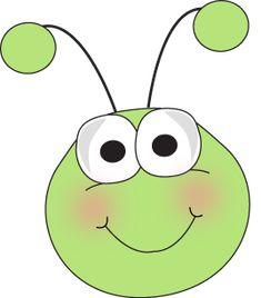 Bug Face Cartoon | Grasshopper Face Clip Art Image - cute grasshopper face with big eyes ...