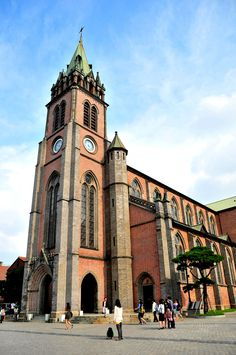 Myeongdong Cathedral - Need a break from shopping? Check out one of Seoul's oldest Cathedrals in Myeongdong. It's a beautiful to see and explore when you're in Seoul.