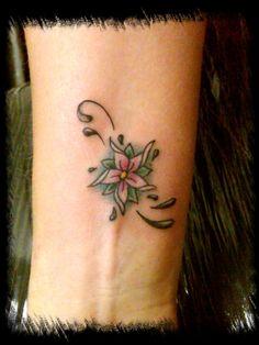 Flower Tattoos On Wrist Flower wrist by bmxninja Pretty Flower Tattoos, Flower Wrist Tattoos, Wrist Flowers, Simple Flowers, Tattoos For Women, Ink, Image, Google Search, Ideas